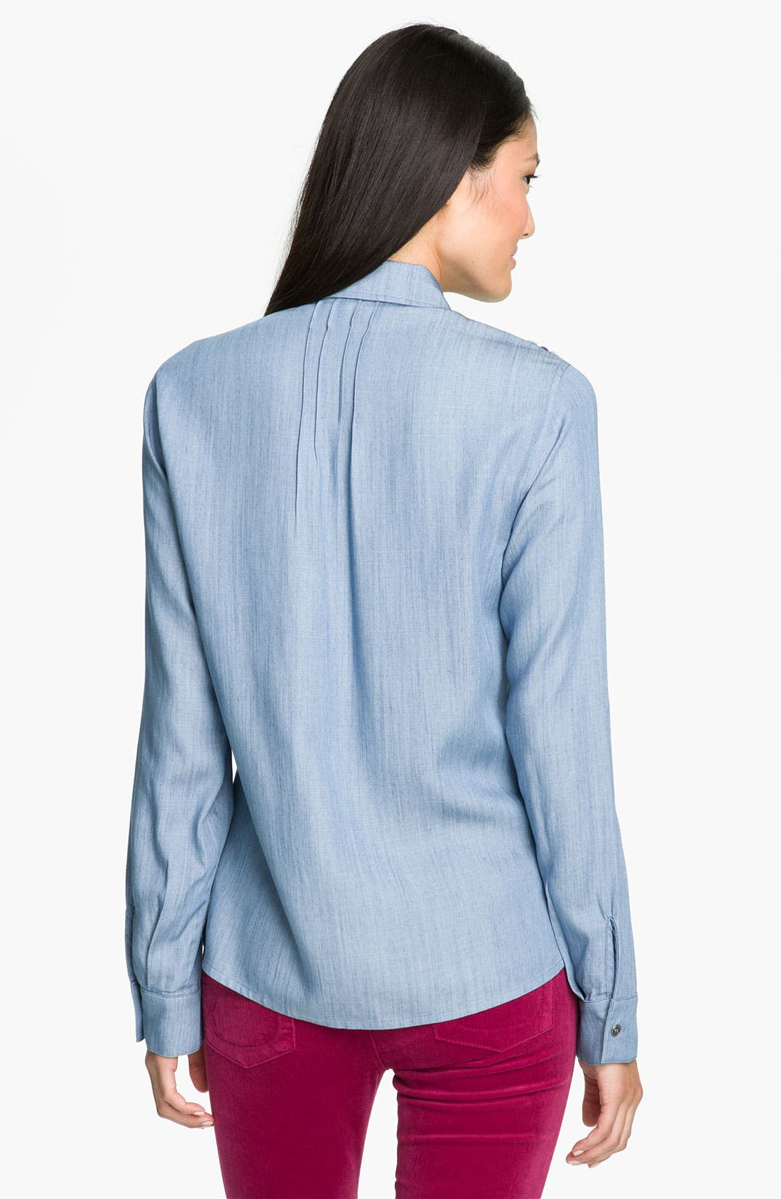 Alternate Image 2  - Olivia Moon Roll Sleeve Chambray Shirt