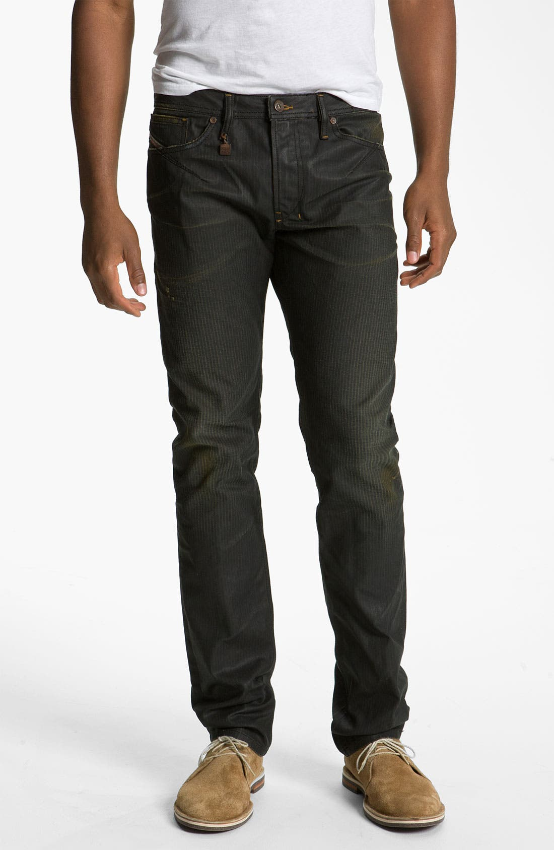 Alternate Image 2  - DIESEL® 'Shioner' Coated Slim Skinny Leg Jeans (0804H)