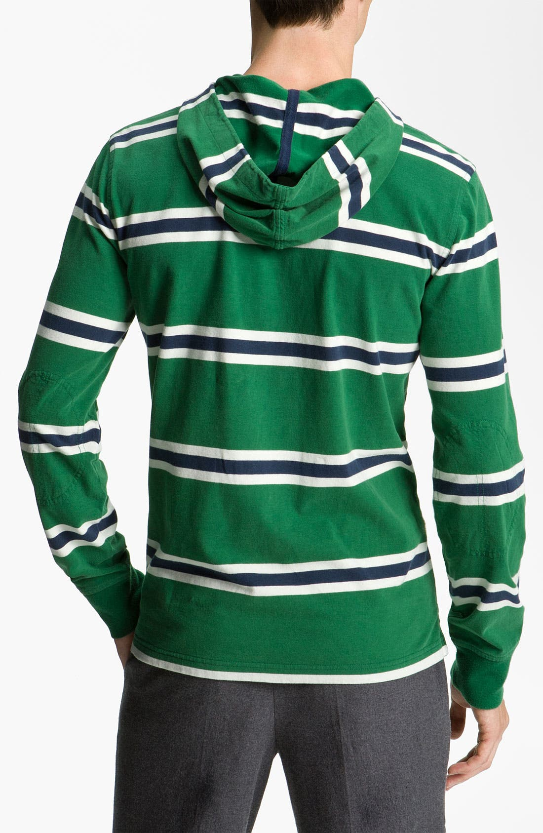 Alternate Image 2  - Brooks Brothers Henley Hoodie