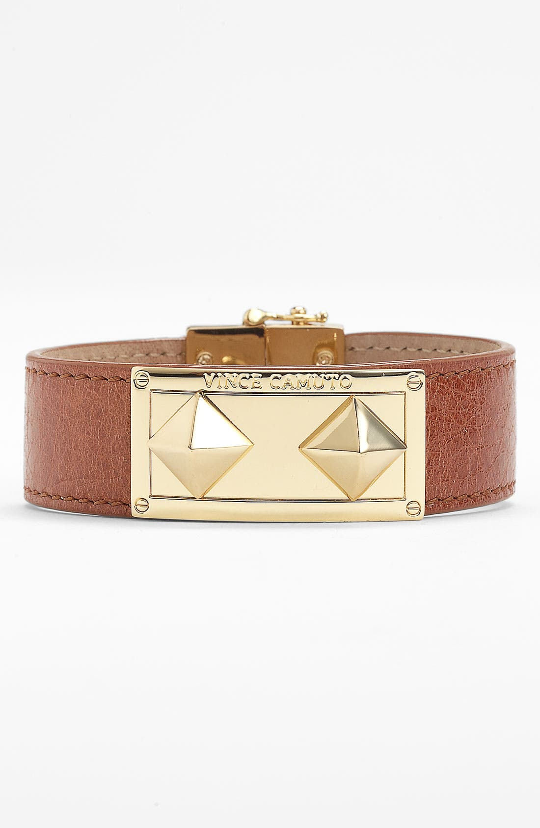 Main Image - Vince Camuto Studded Leather Wrap Bracelet