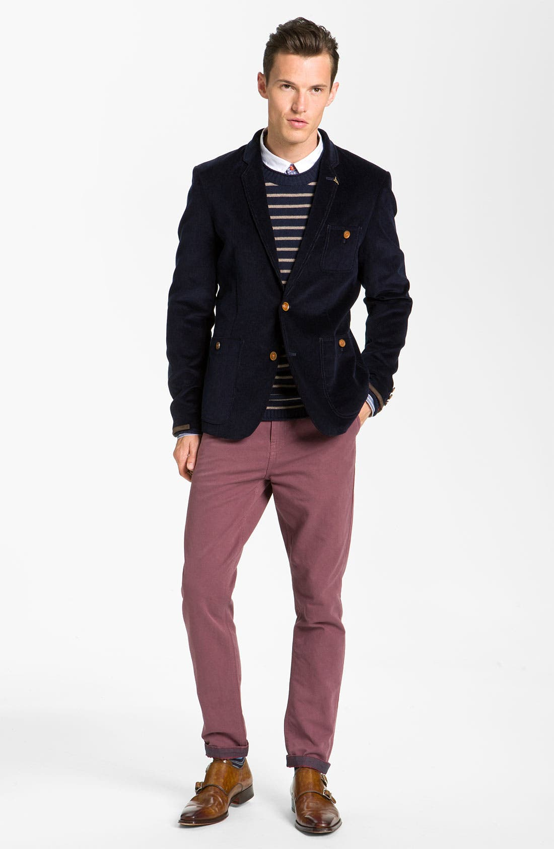 Alternate Image 4  - Ted Baker London 'Soochin' Slim Fit Chinos