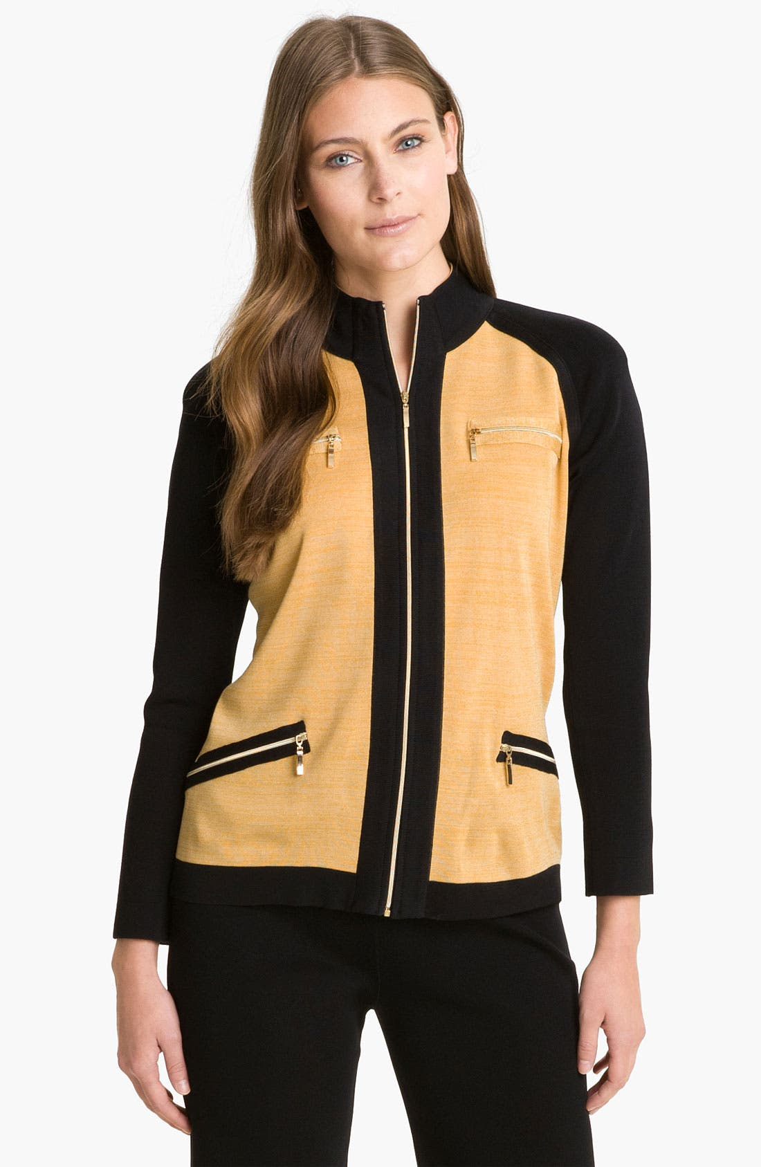 Alternate Image 1 Selected - Exclusively Misook Funnel Sweater Jacket