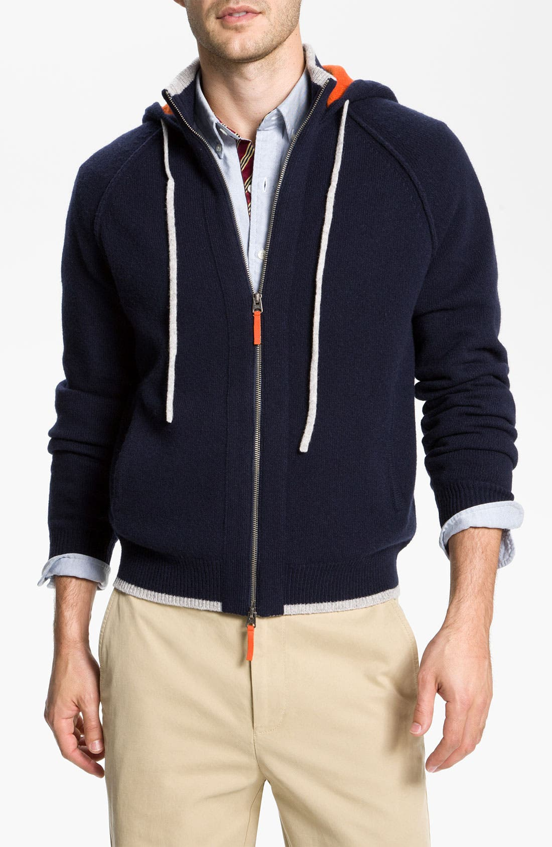 Alternate Image 1 Selected - Brooks Brothers Lambswool Hoodie
