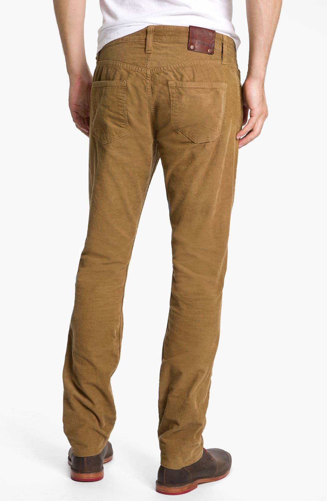 Alternate Image 1 Selected - J Brand 'Kane' Slim Straight Leg Corduroy Pants