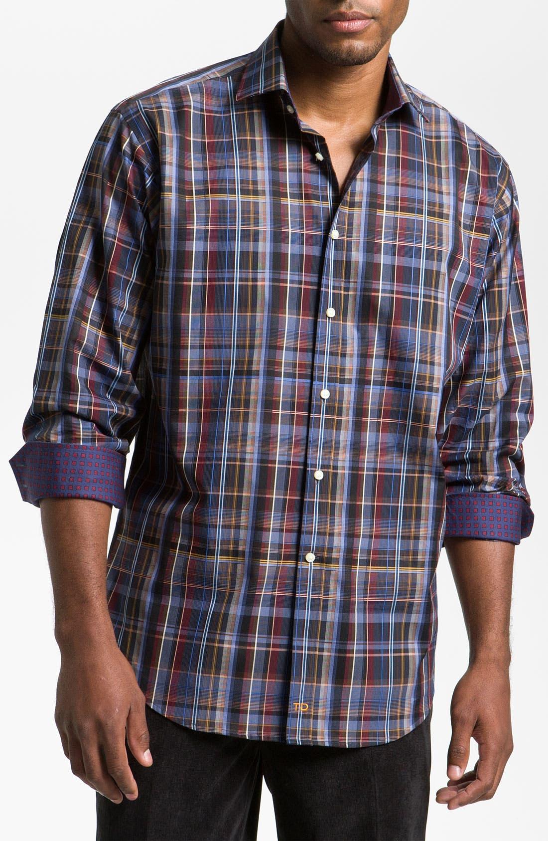Alternate Image 1 Selected - Thomas Dean Plaid Sport Shirt