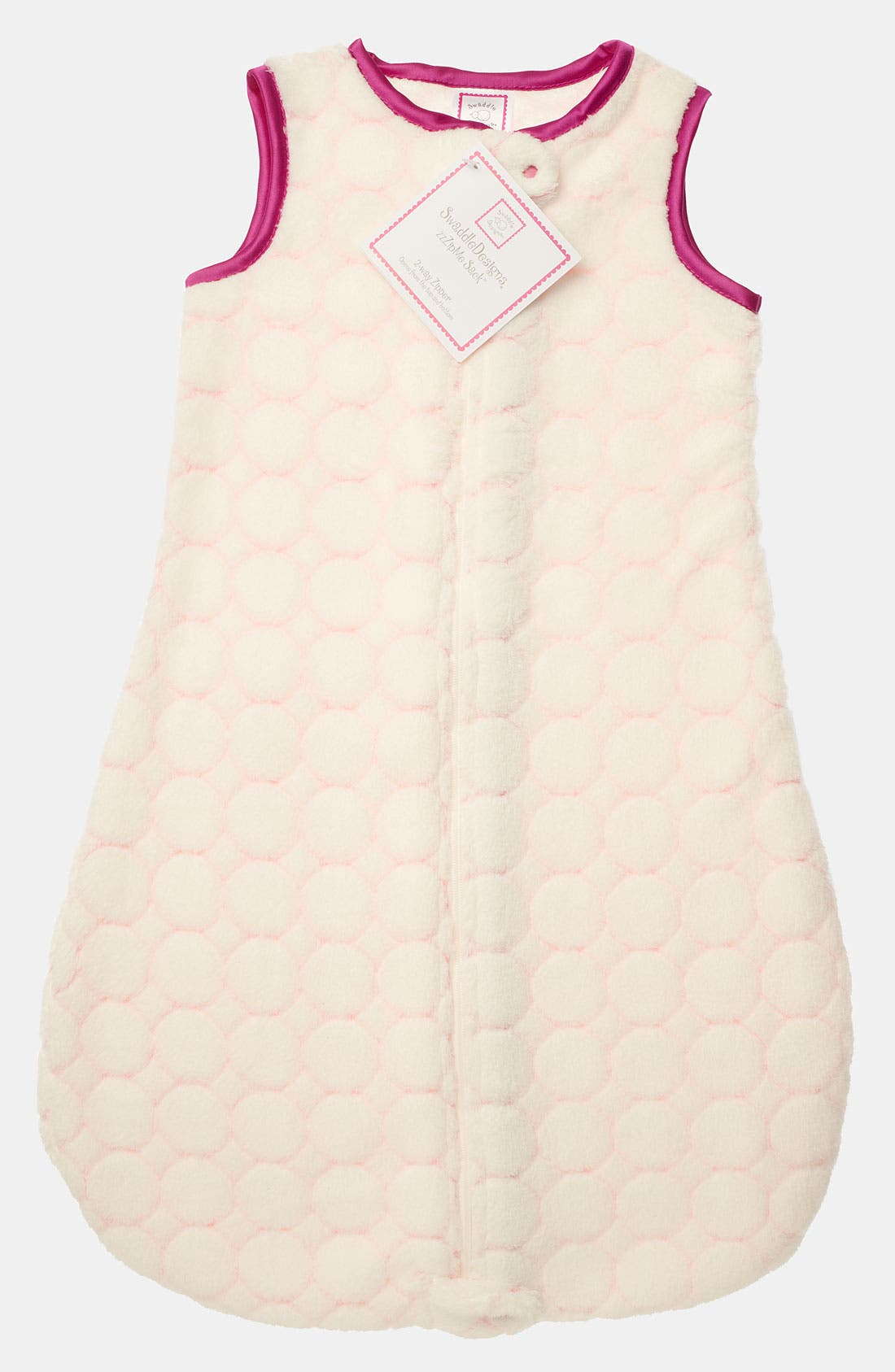 Alternate Image 1 Selected - Swaddle Designs 'zzZipme' Fuzzy Wearable Blanket (Baby)