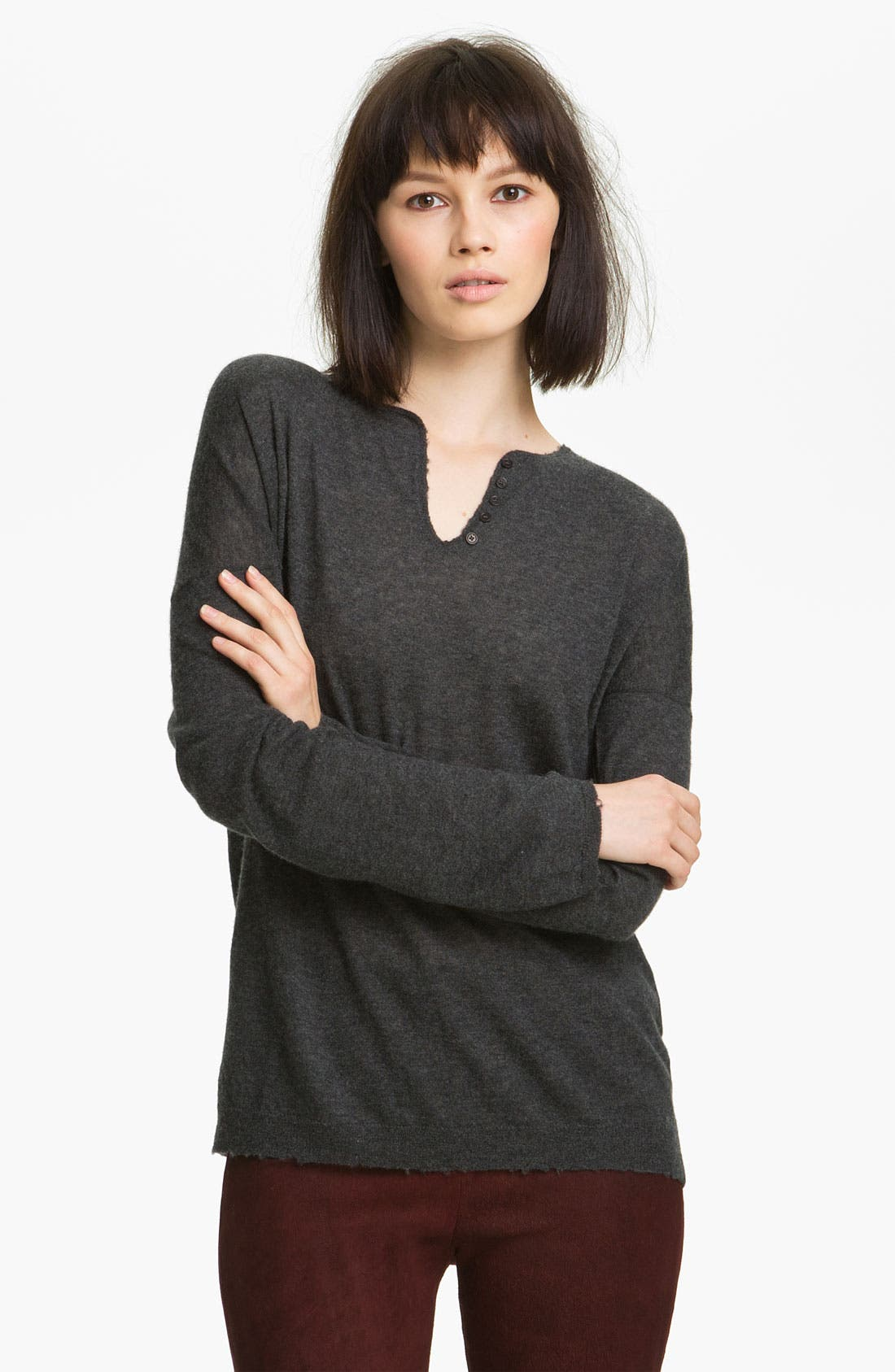 Alternate Image 1 Selected - Zadig & Voltaire 'Celsa' Print Cashmere Sweater