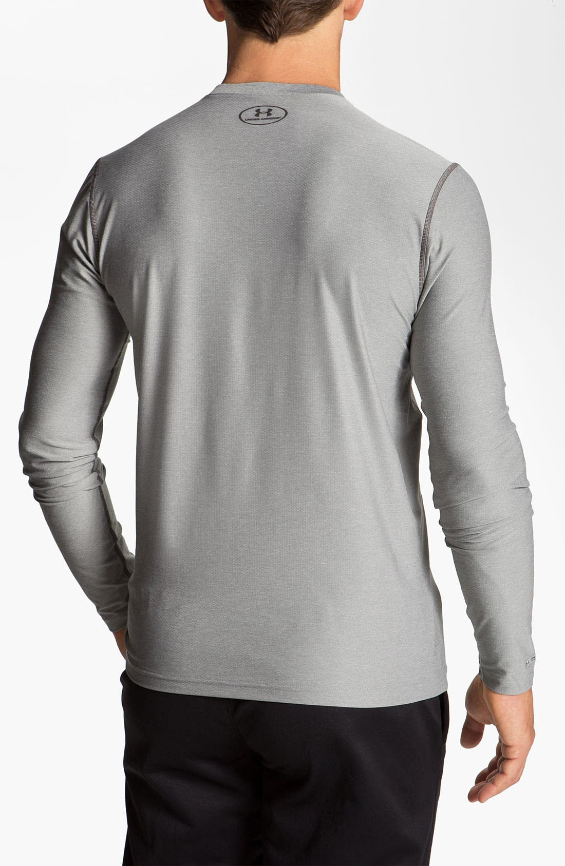 Alternate Image 2  - Under Armour HeatGear™ Fitted Long Sleeve T-Shirt (Online Exclusive)