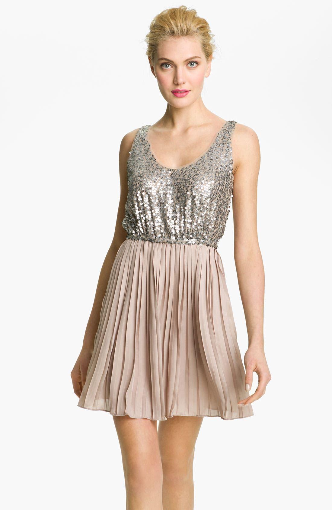 Main Image - BB Dakota 'Olsen' Sequin & Chiffon Blouson Dress