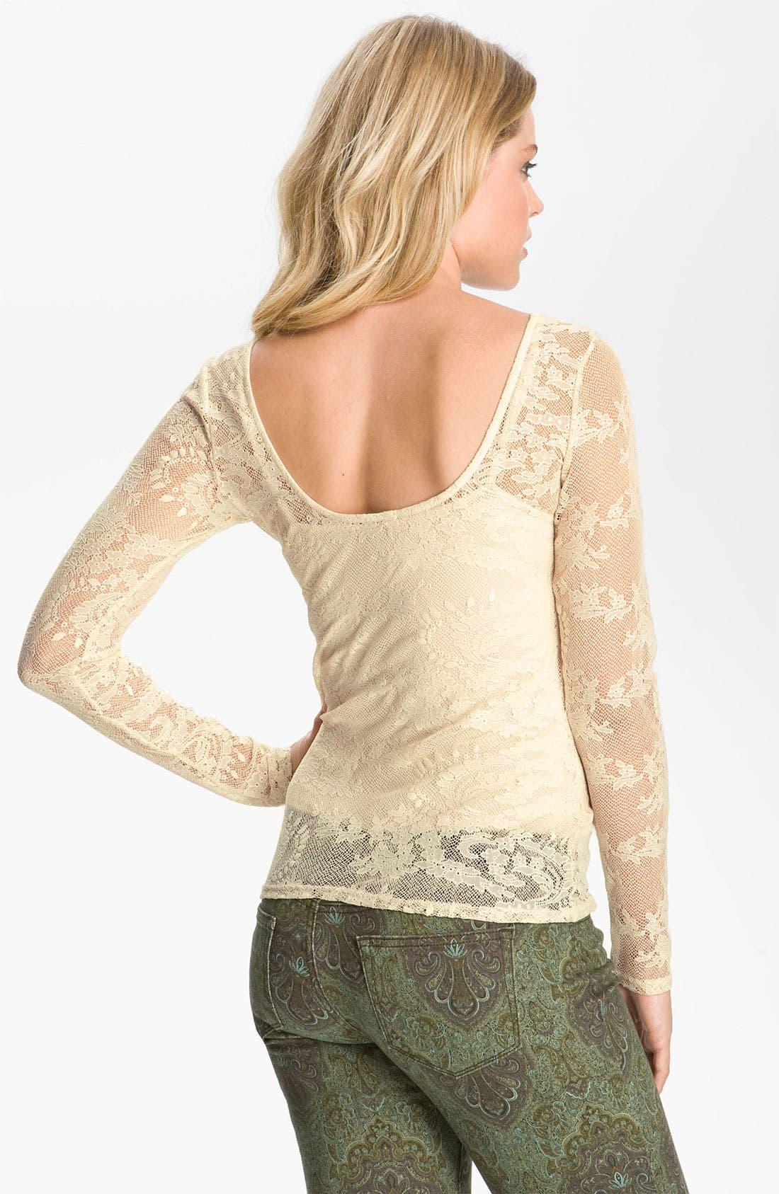 Alternate Image 2  - Ella Moss Stretch Lace Top