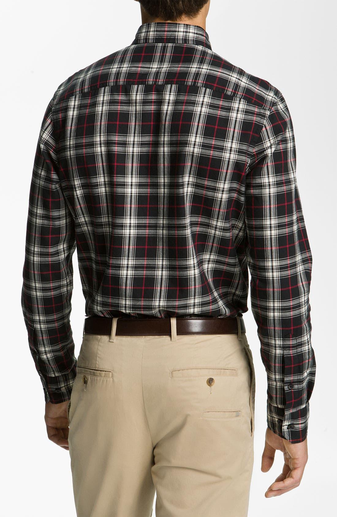 Alternate Image 2  - Wallin & Bros. Plaid Sport Shirt