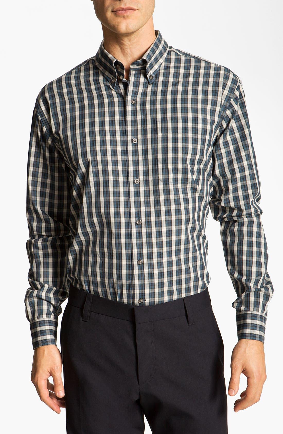 Main Image - Cutter & Buck 'Marblemount' Plaid Sport Shirt