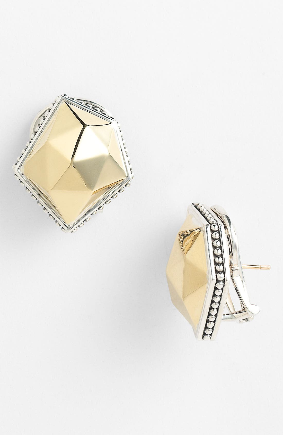 Alternate Image 1 Selected - LAGOS 'Rocks' Medium Angled Two Tone Earrings