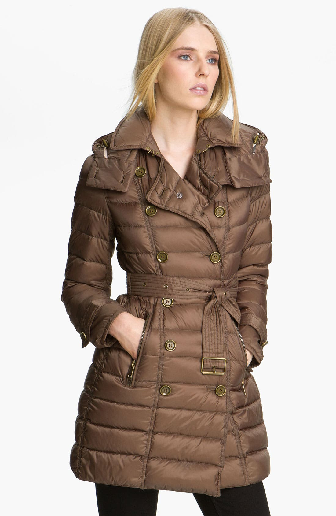 Alternate Image 1 Selected - Burberry Brit Belted Down Coat