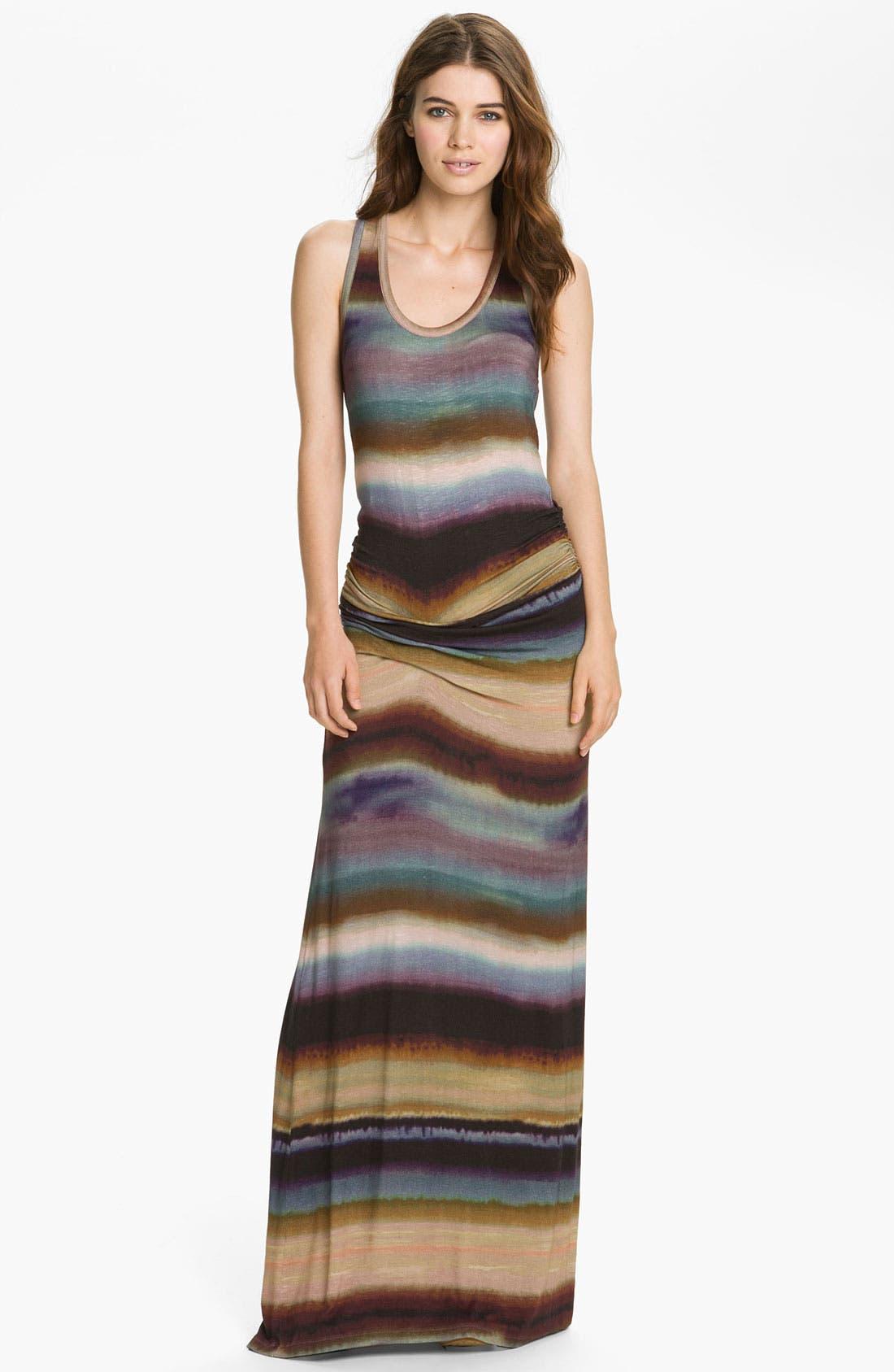 Main Image - Young, Fabulous & Broke 'Hamptons' Tie Dyed Stripe Maxi Dress