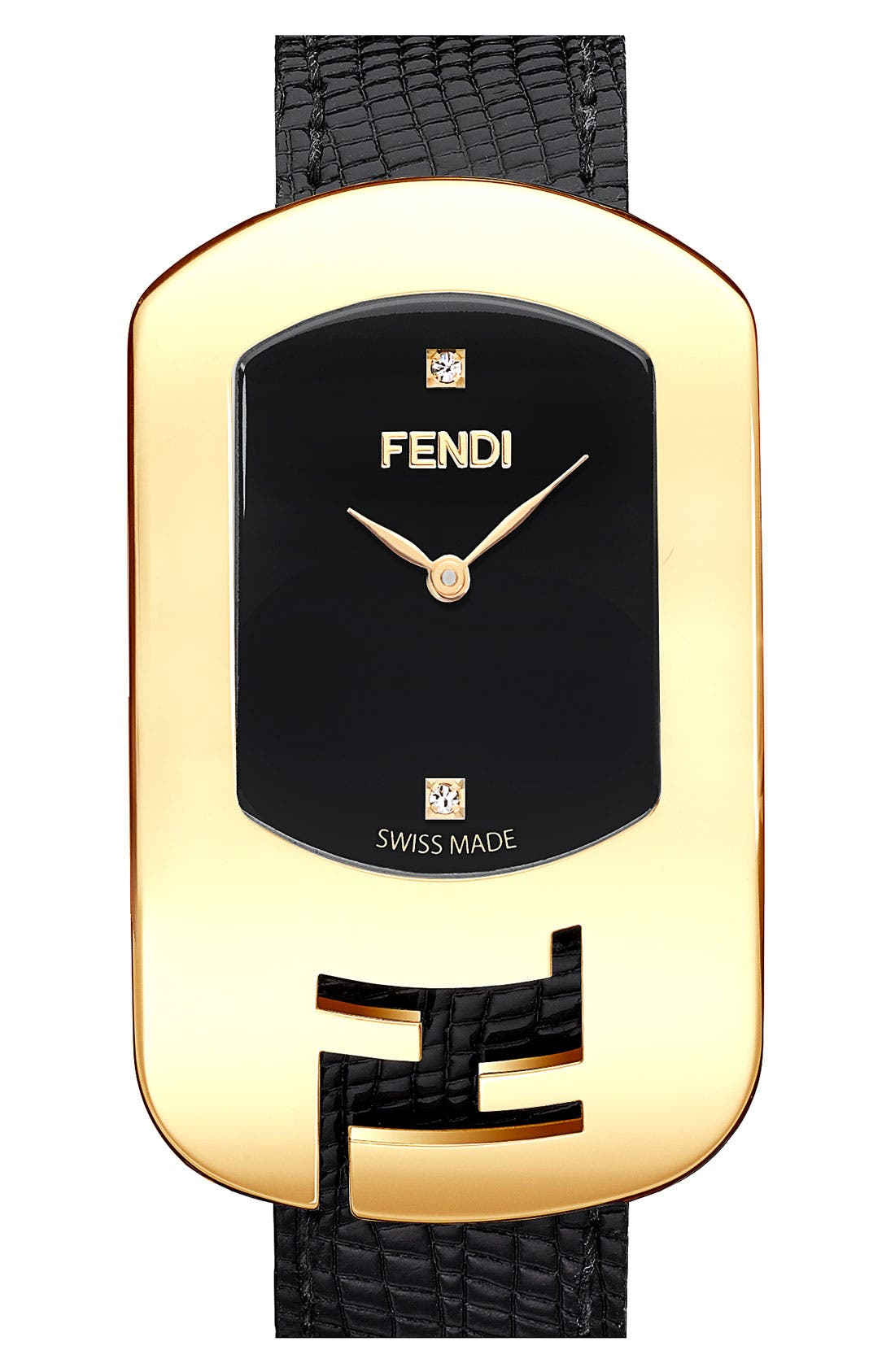 Main Image - Fendi 'Large Chameleon' Leather Strap Watch, 29mm x 49mm (Nordstrom Exclusive)