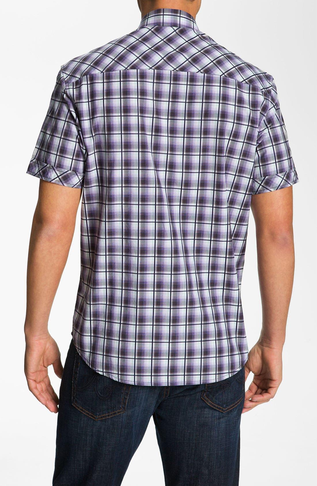 Alternate Image 2  - James Campbell 'Pecos' Plaid Sport Shirt