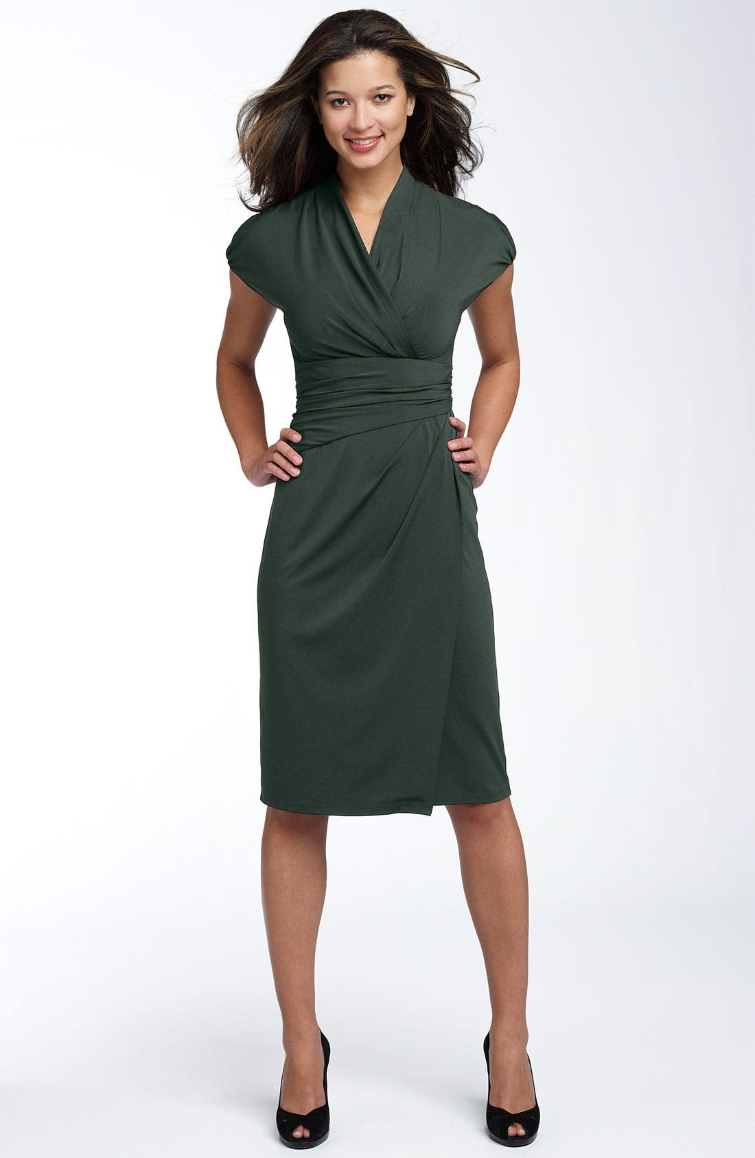 Alternate Image 1 Selected - Ivy & Blu Ruched Faux Wrap Dress