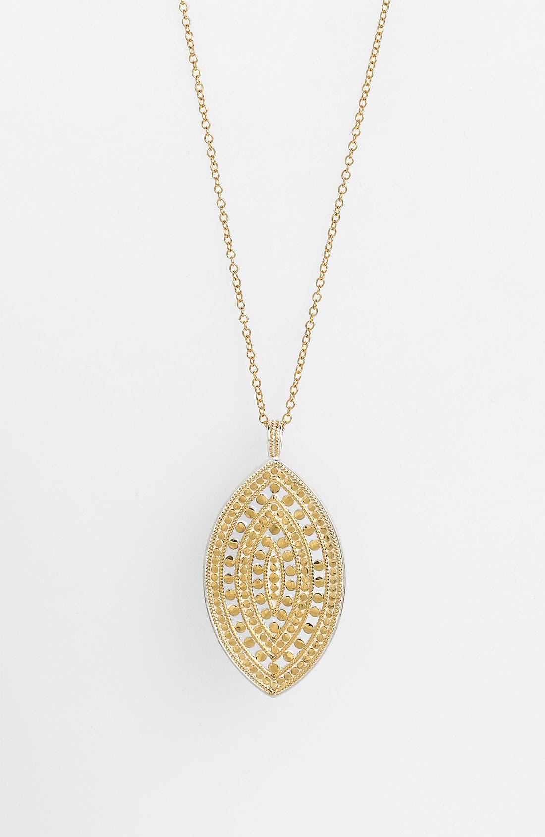 Alternate Image 1 Selected - Anna Beck 'Lombok' Long Leaf Pendant Necklace