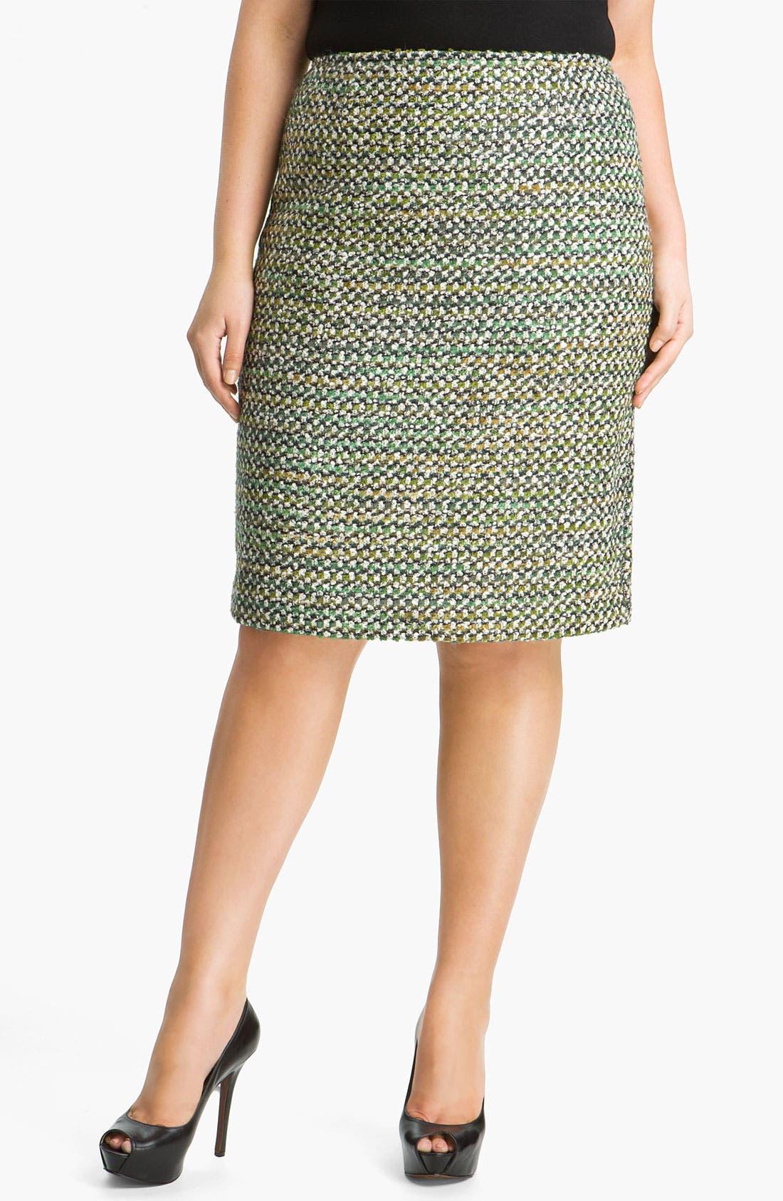 Alternate Image 1 Selected - Lafayette 148 New York 'Hierarchy' Tweed Skirt (Plus)