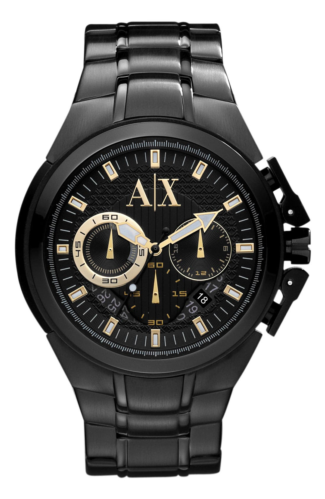 Alternate Image 1 Selected - AX Armani Exchange Chronograph Bracelet Watch, 50mm