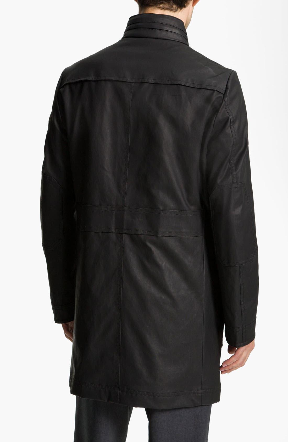 Alternate Image 2  - BOSS Black 'Patron' Waxed Trench Coat