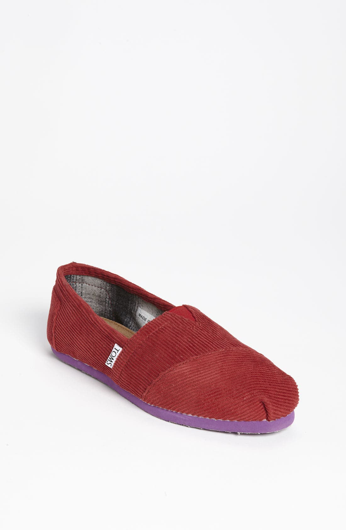 Main Image - TOMS 'Classic - Color Pop' Corduroy Slip-On (Women)