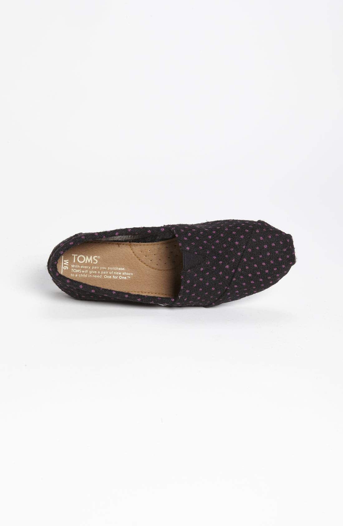 Alternate Image 3  - TOMS 'Classic - Dot' Woolen Slip-On (Women)