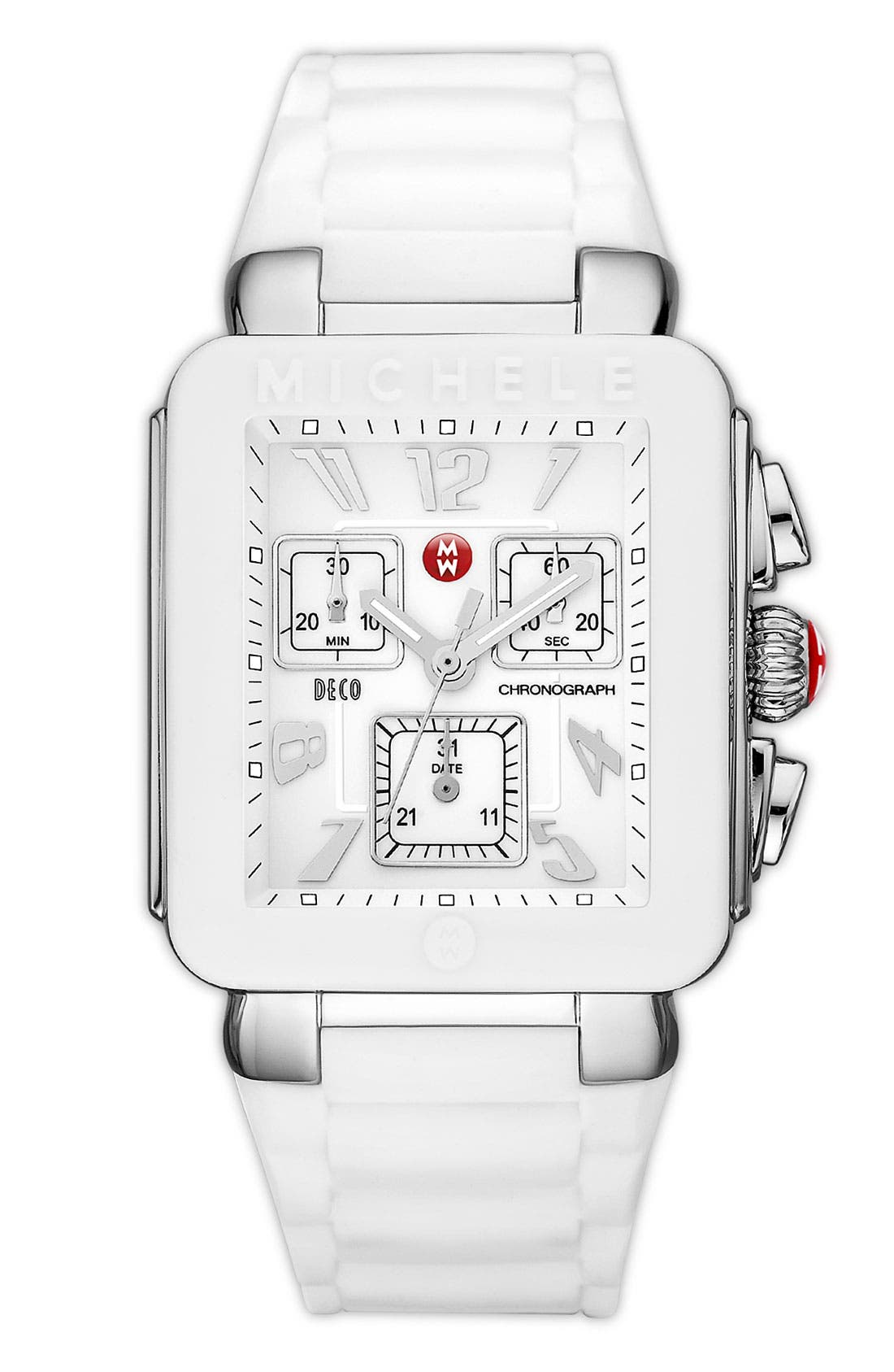 Alternate Image 1 Selected - MICHELE 'Park Jelly Bean' Watch, 33mm x 36mm