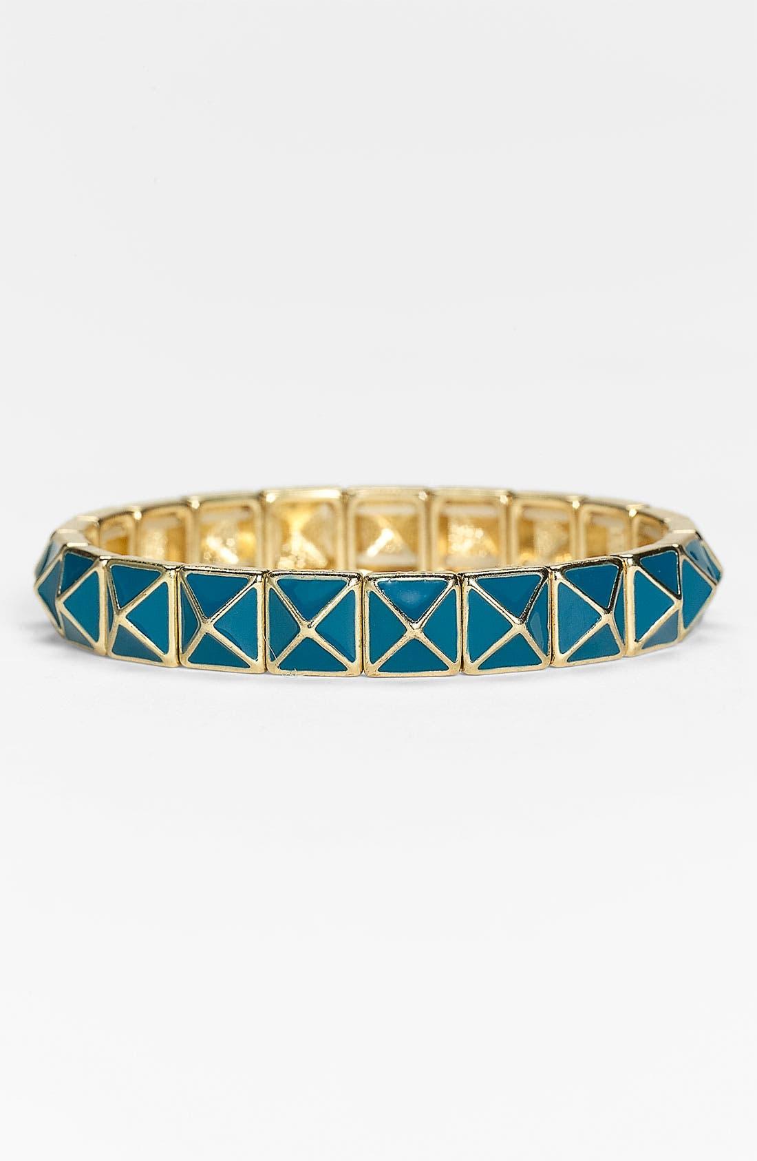 Alternate Image 1 Selected - Stephan & Co. Pyramid Stud Stretch Bracelet