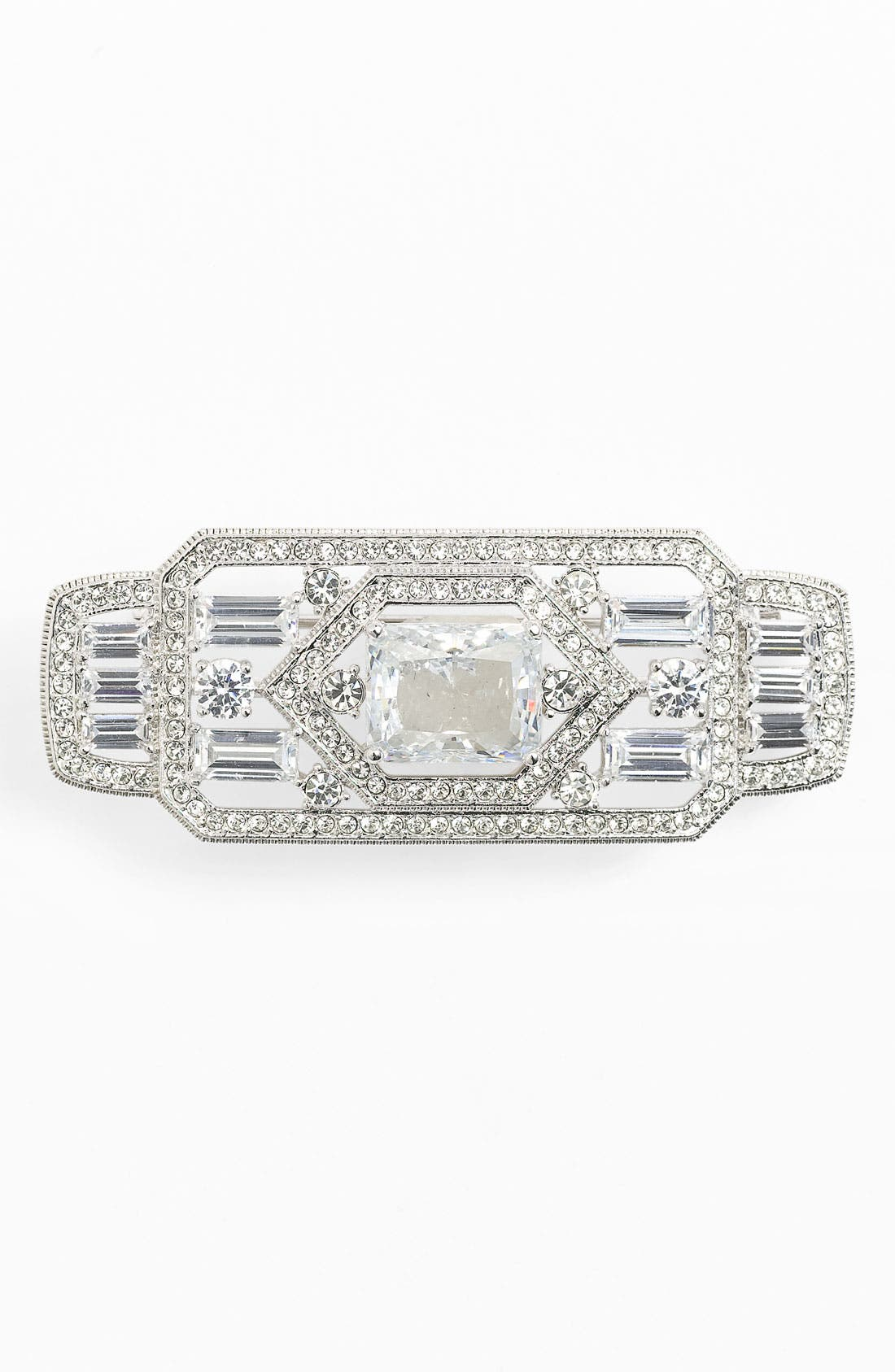 Main Image - Nadri 'Art Deco' Rectangle Brooch (Nordstrom Exclusive)