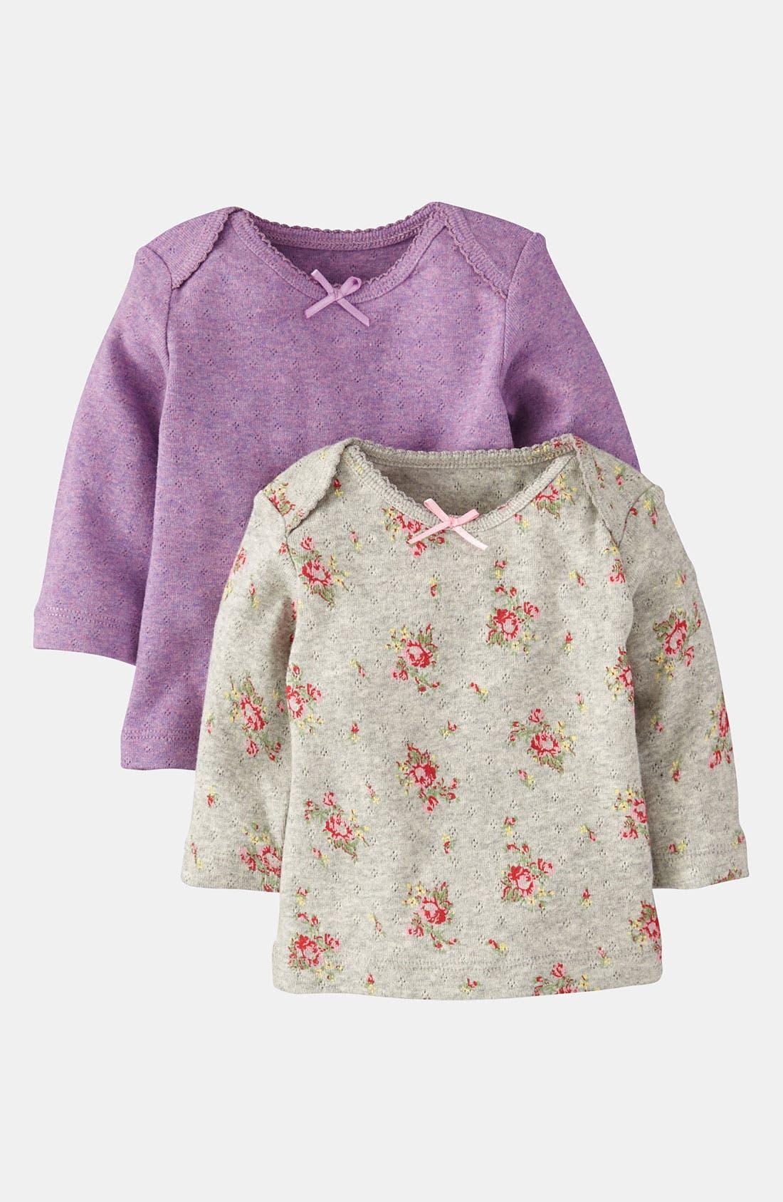 Main Image - Mini Boden Pointelle Tee (2-Pack) (Infant)
