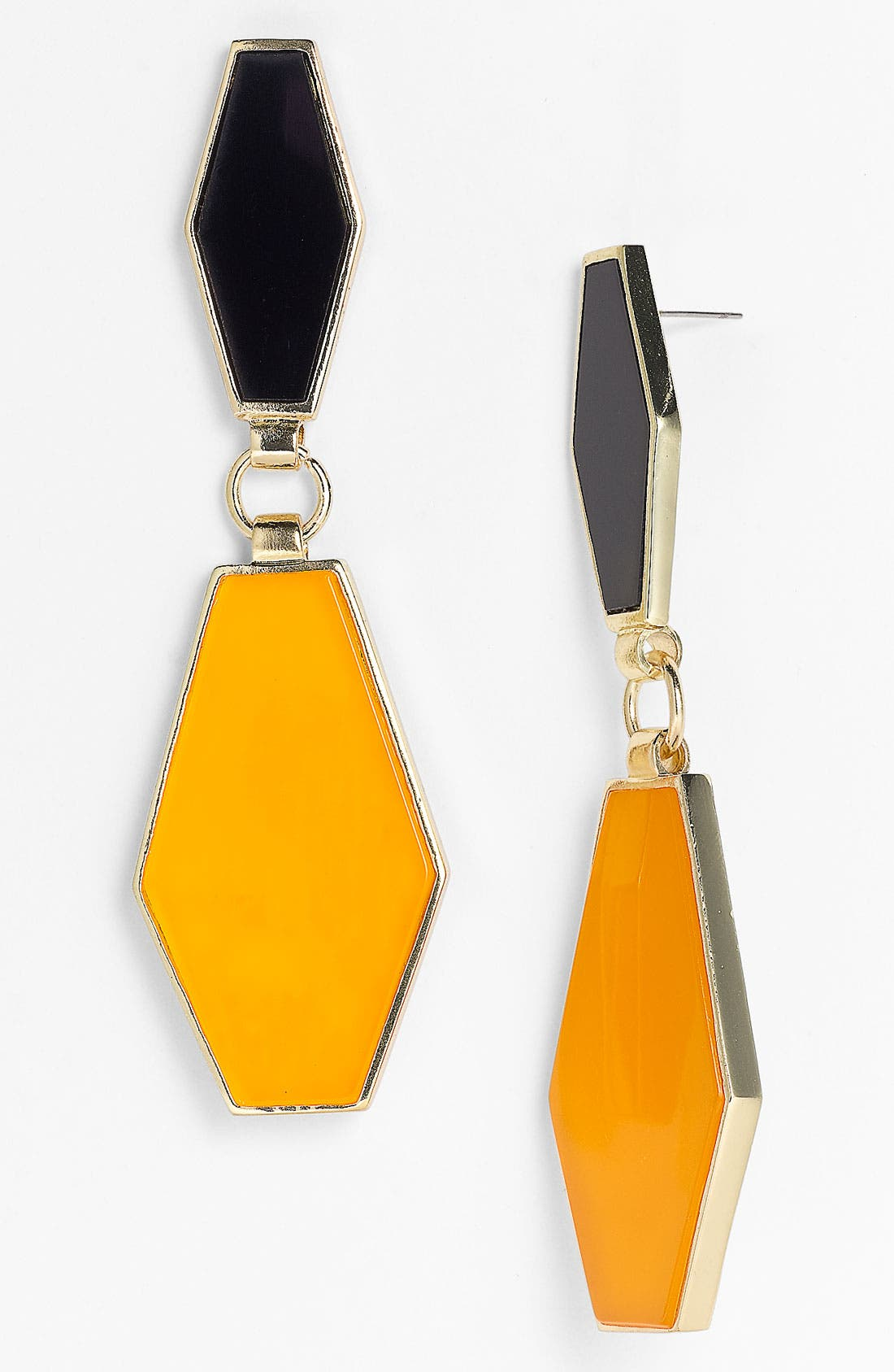 Design Group 'Deco Drop' Earrings,                             Main thumbnail 1, color,                             Black/ Yellow