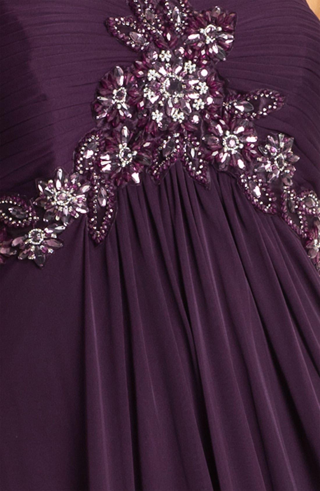 Alternate Image 3  - Xscape One Shoulder Embellished Mesh Gown