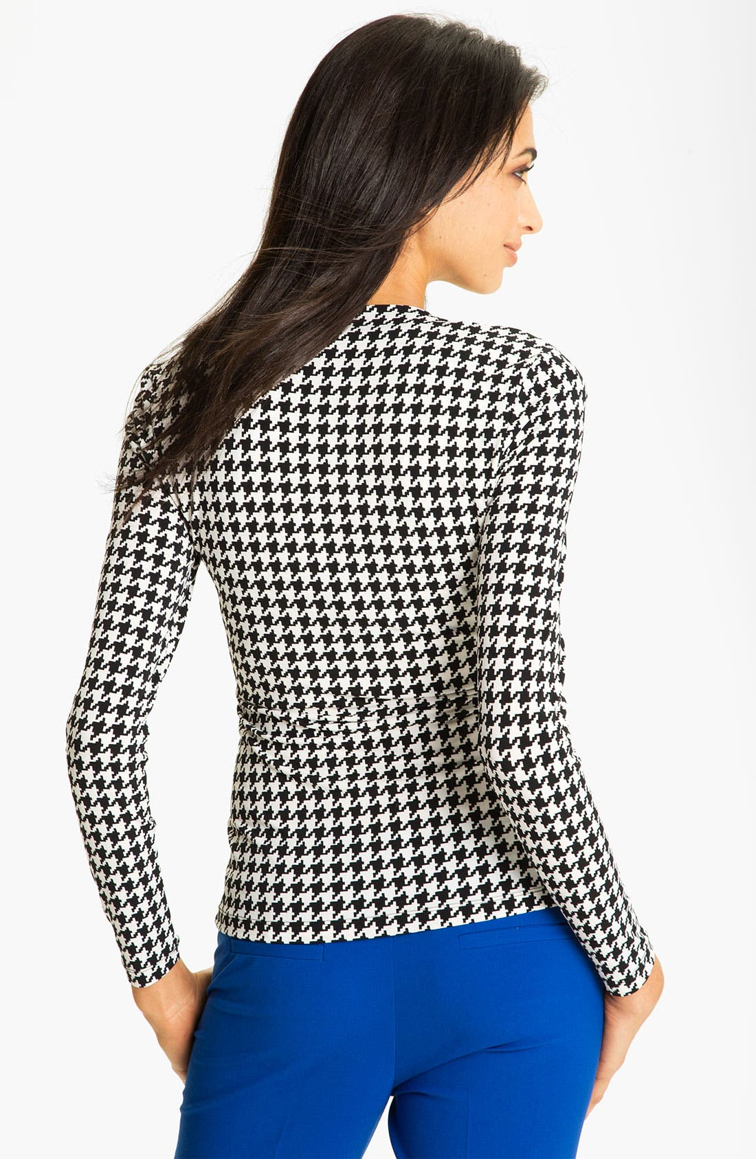 Alternate Image 2  - Vince Camuto Faux Wrap Houndstooth Top
