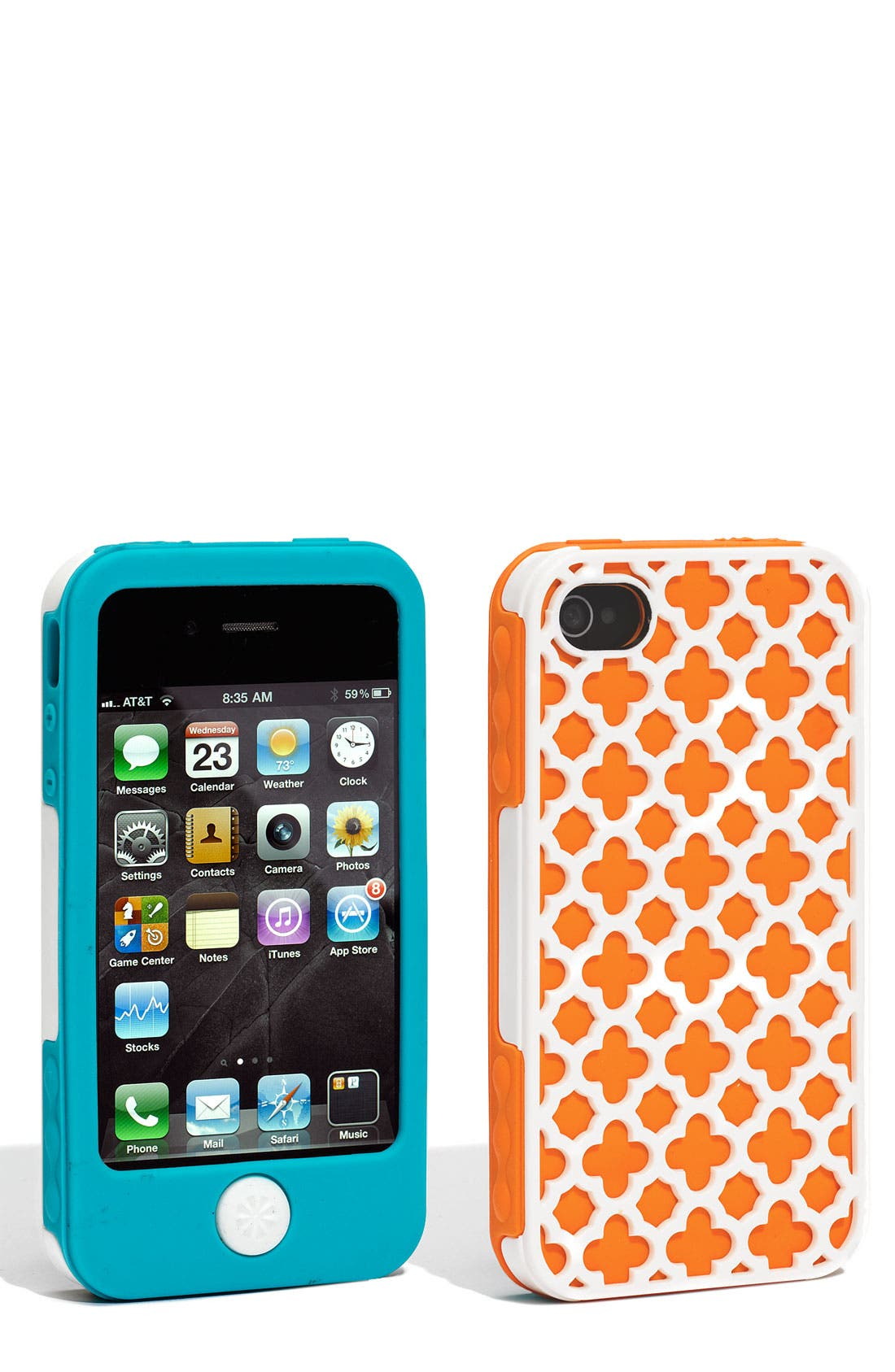 Main Image - Tech Candy 'Barcelona' iPhone 4 Silicone Case (3-Piece Set)