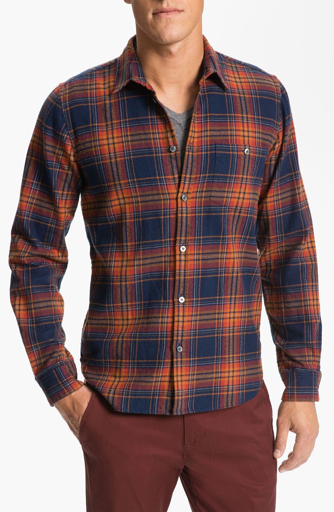 Main Image - MARC BY MARC JACOBS 'Mikhail' Cotton Flannel Shirt