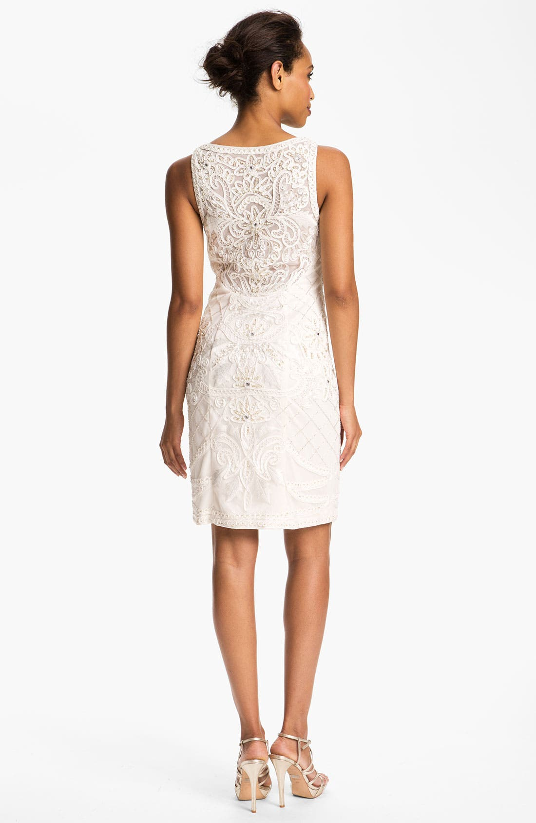 Main Image - Sue Wong Embroidered Boat Neck Tulle Dress