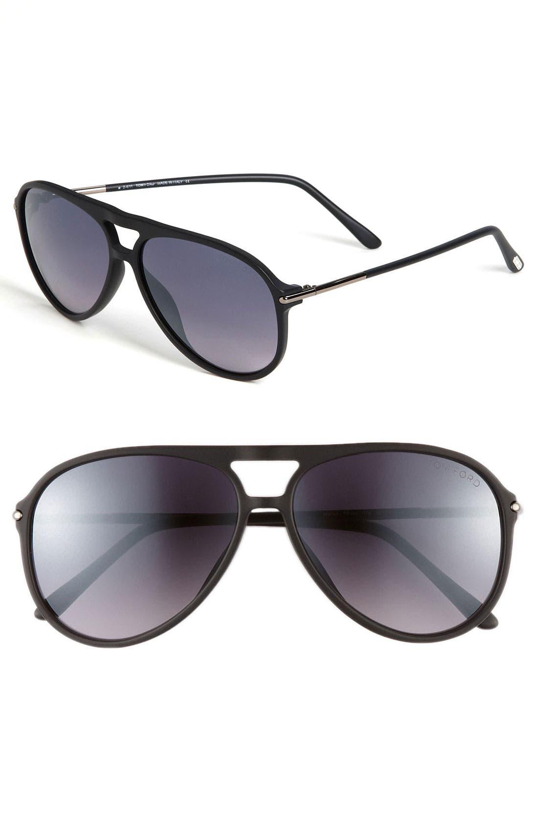 Alternate Image 1 Selected - Tom Ford 59mm Aviator Sunglasses