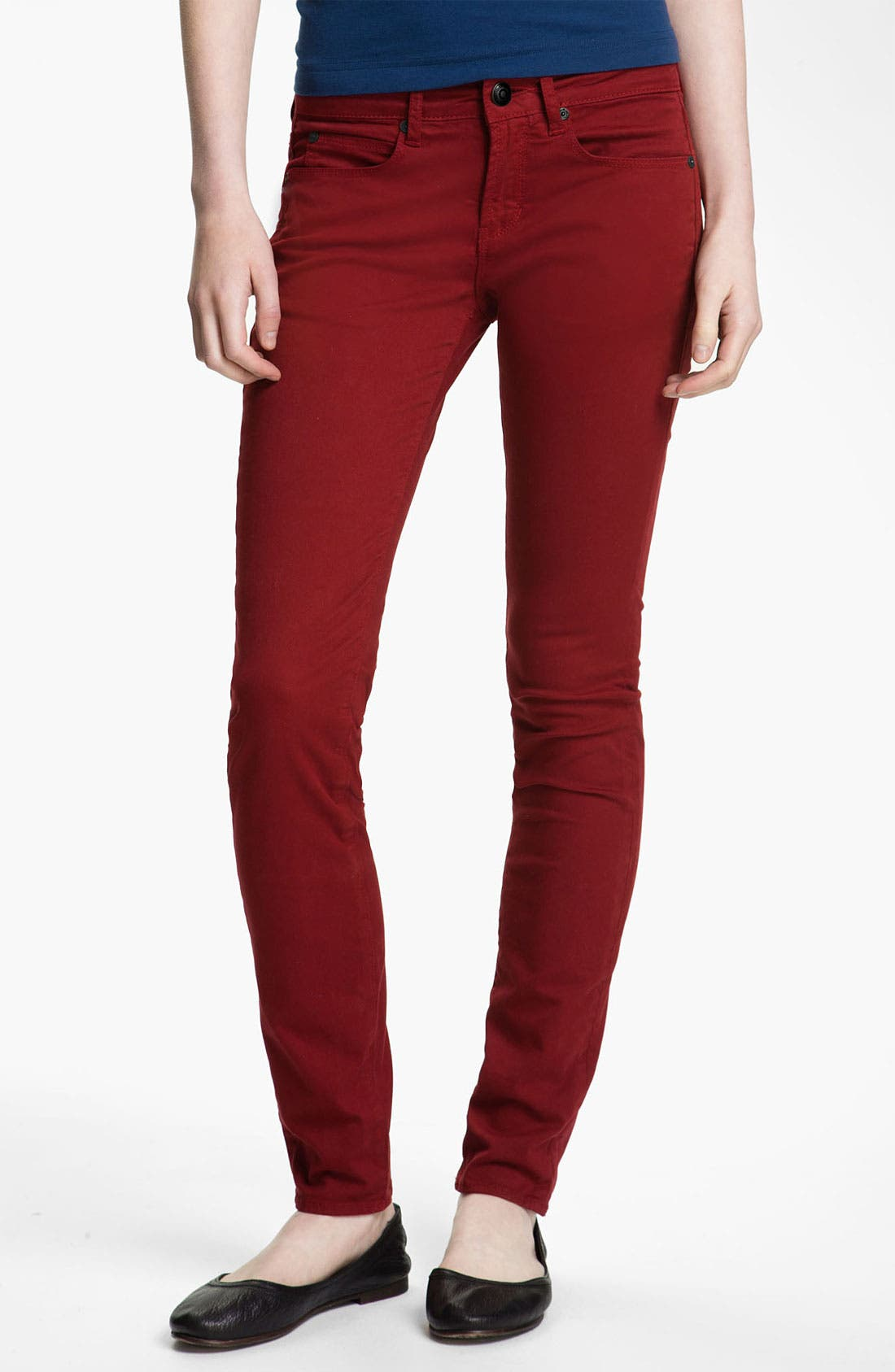 Alternate Image 2  - Articles of Society 'Mya' Skinny Jeans (Scarlet) (Juniors)