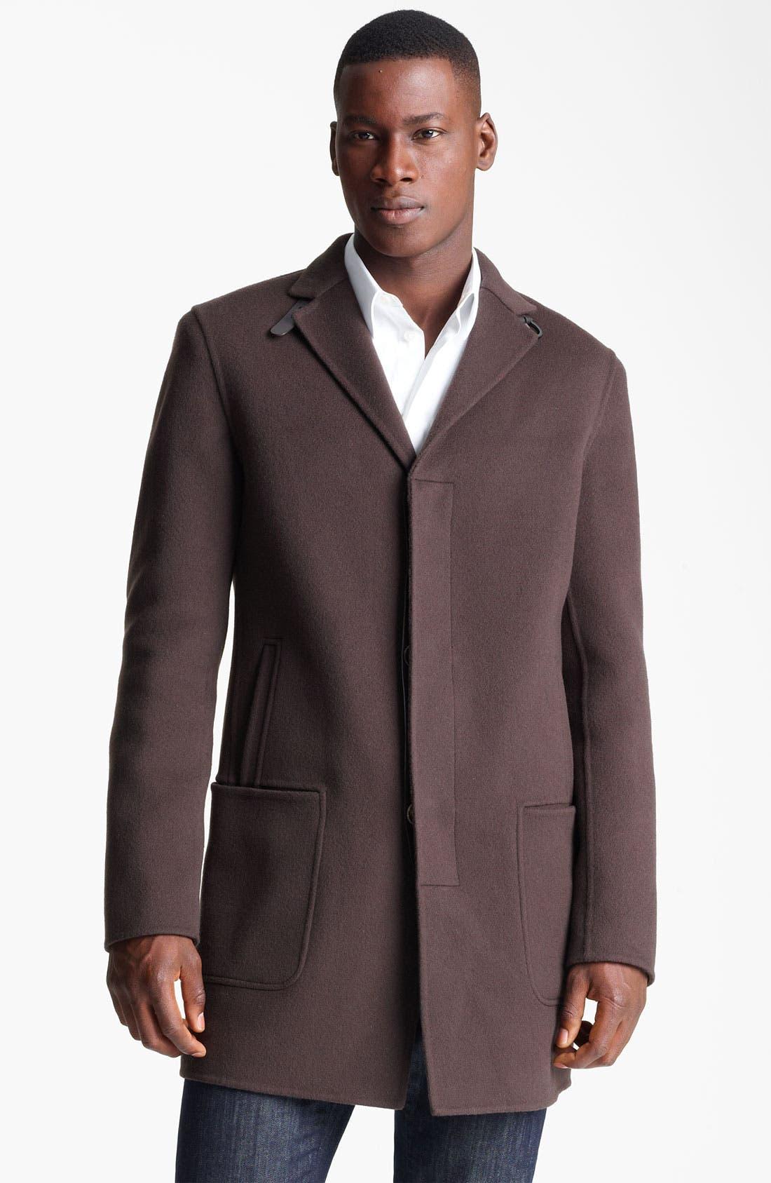 Alternate Image 1 Selected - Salvatore Ferragamo 'Capotto Sportivo' Wool Coat
