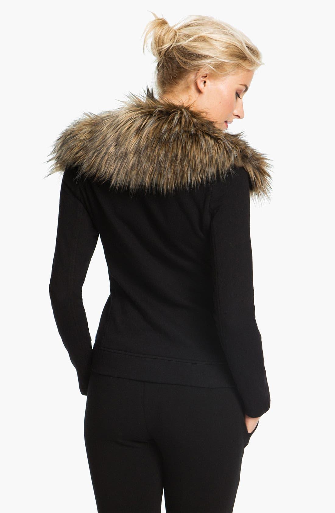 Alternate Image 2  - Pink Lotus 'Open Road' Faux Fur Trim Jacket