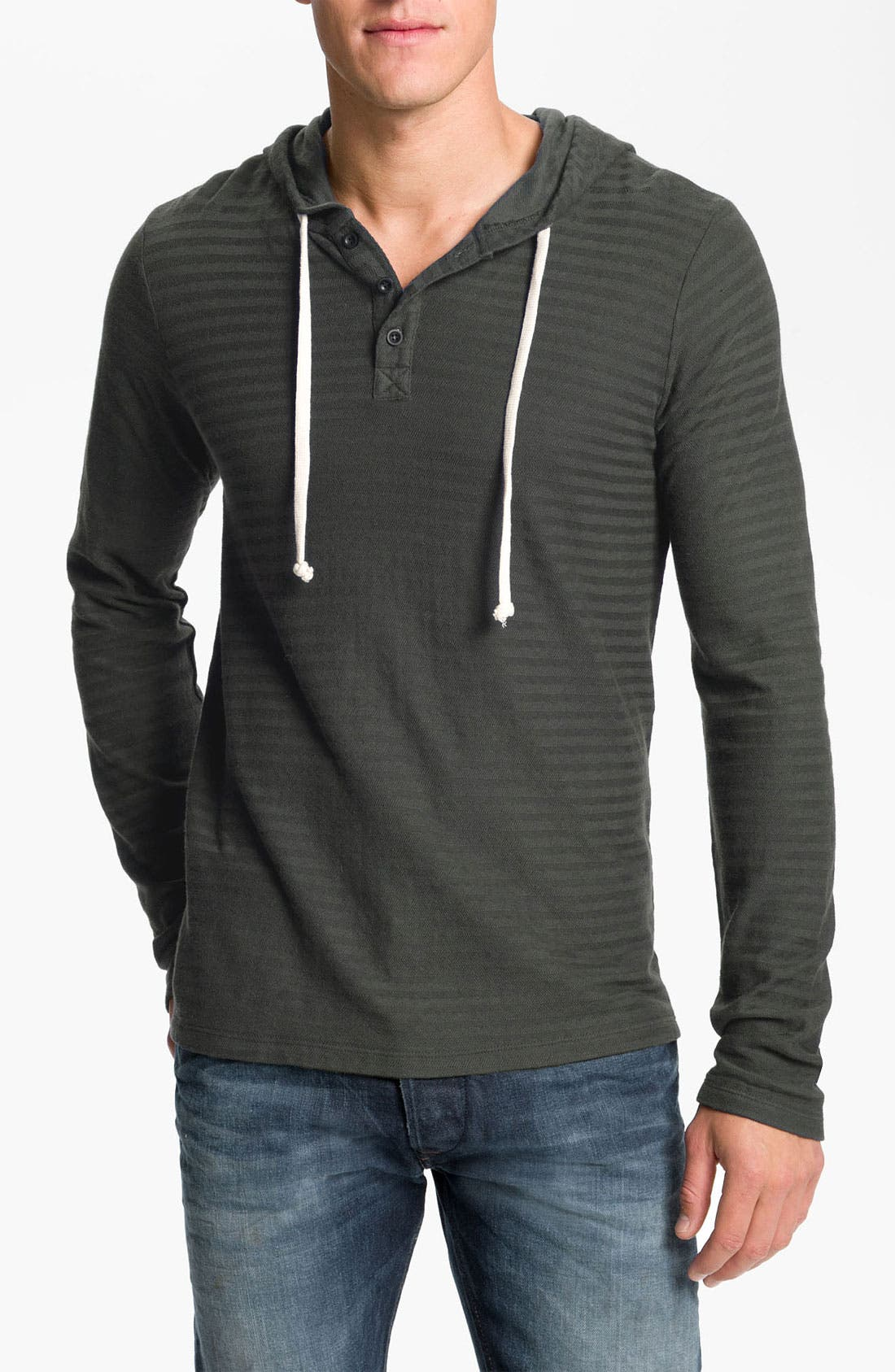 Main Image - NSF Clothing 'Spencer' Stripe Hooded Henley