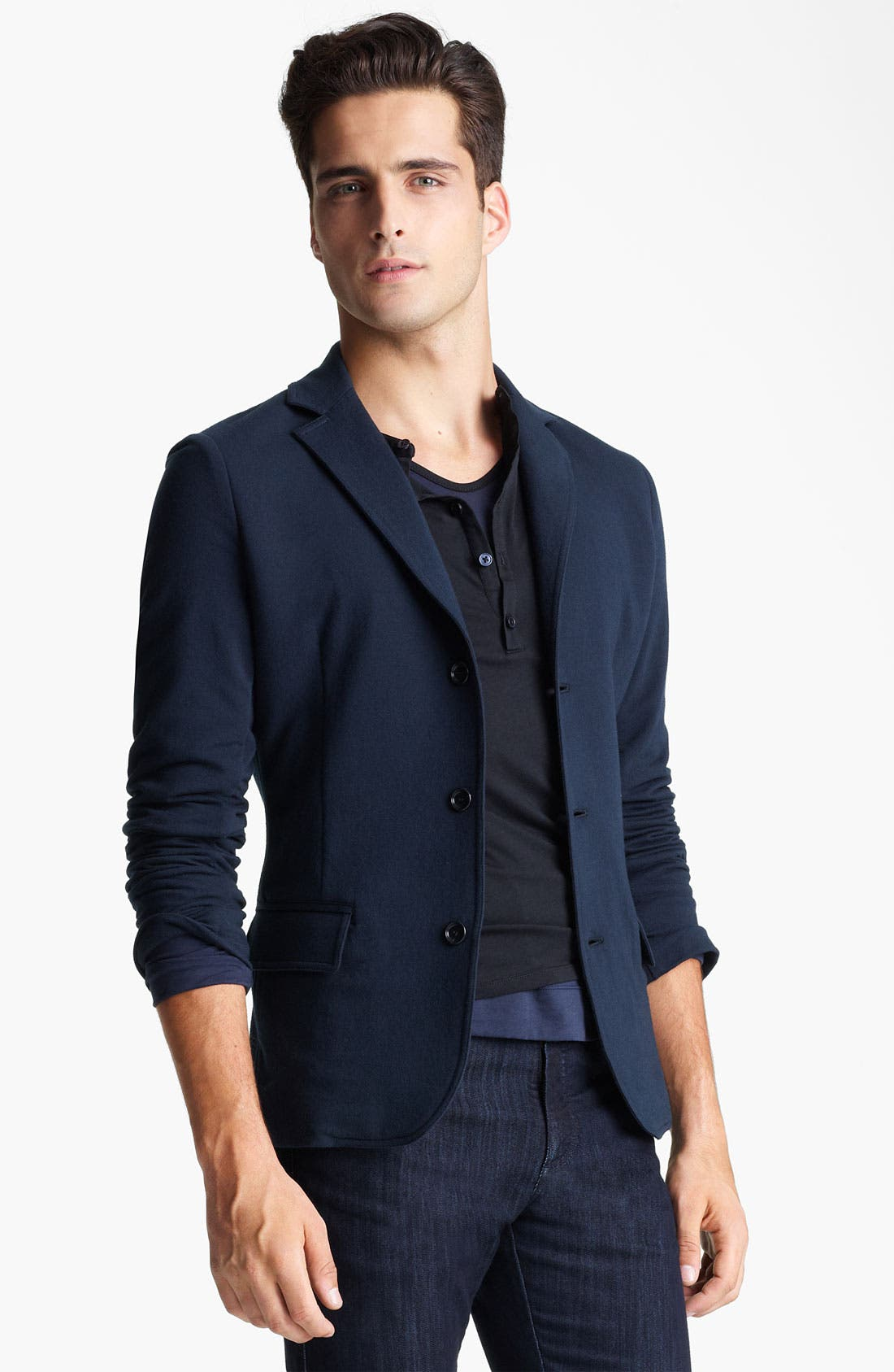 Alternate Image 1 Selected - Z Zegna Jersey Blazer