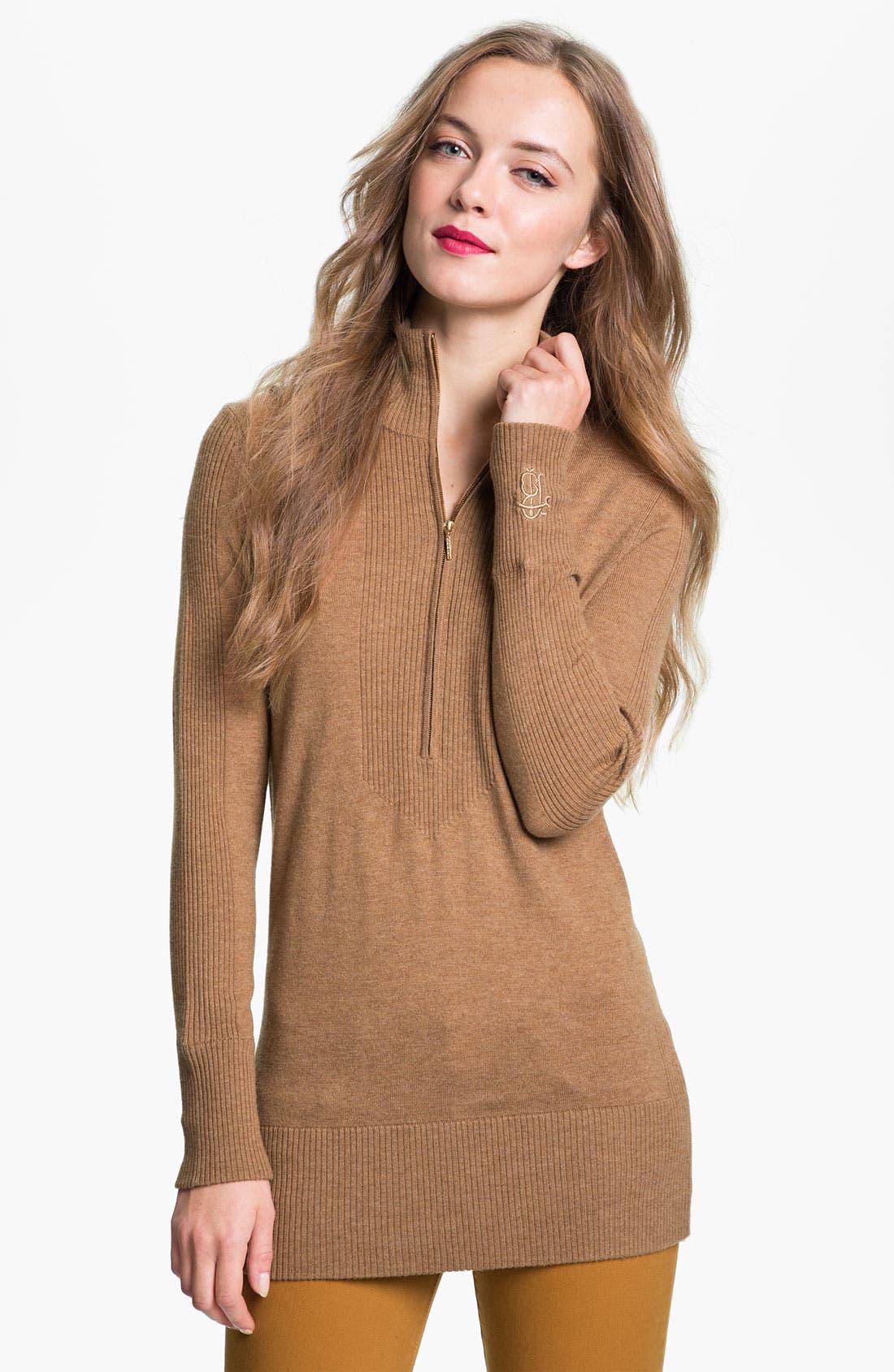 Alternate Image 1 Selected - Tory Burch 'Alora' Half Zip Sweater (Online Exclusive)