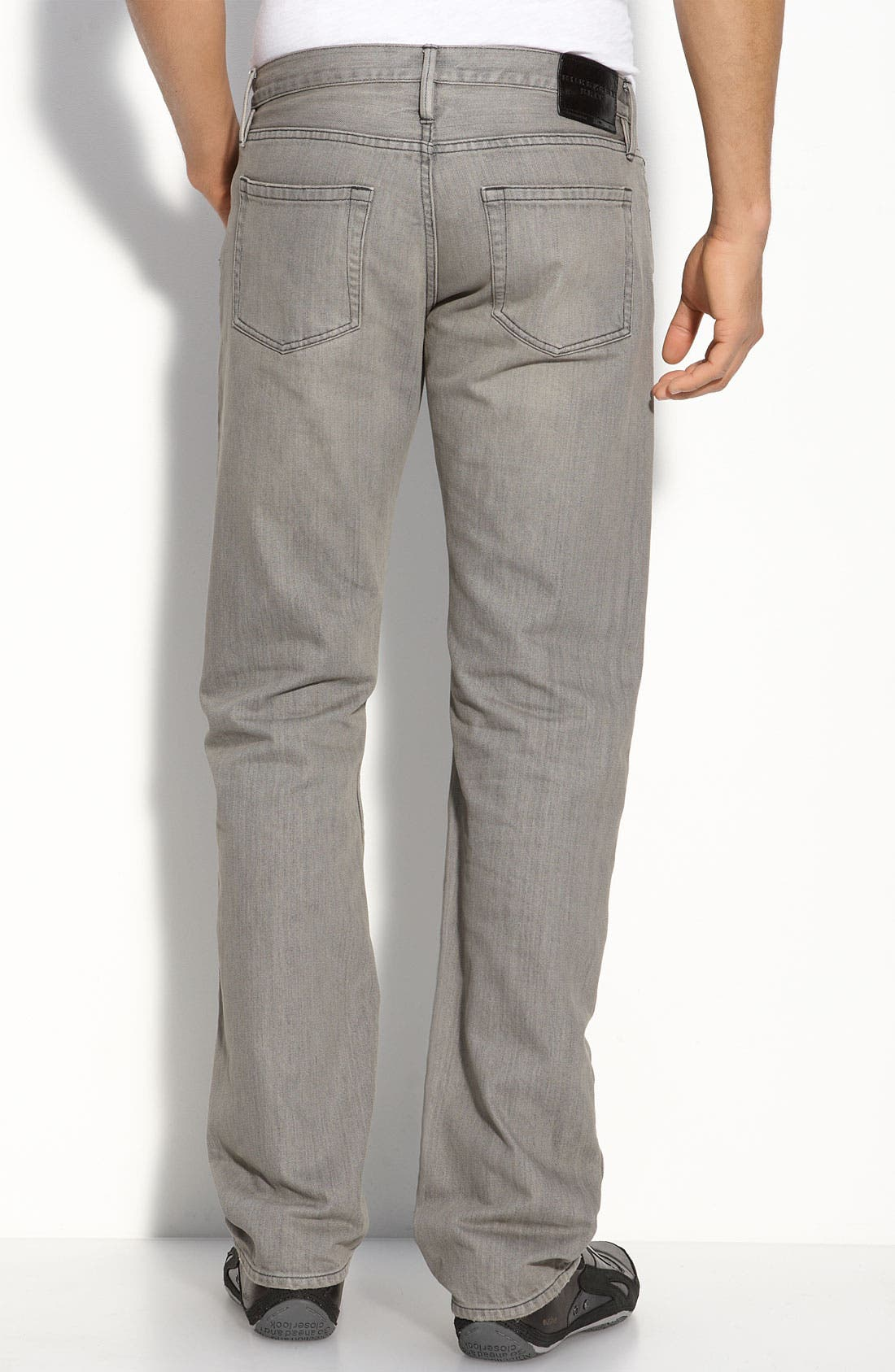 Alternate Image 2  - Burberry Brit Straight Leg Jeans (Grey)