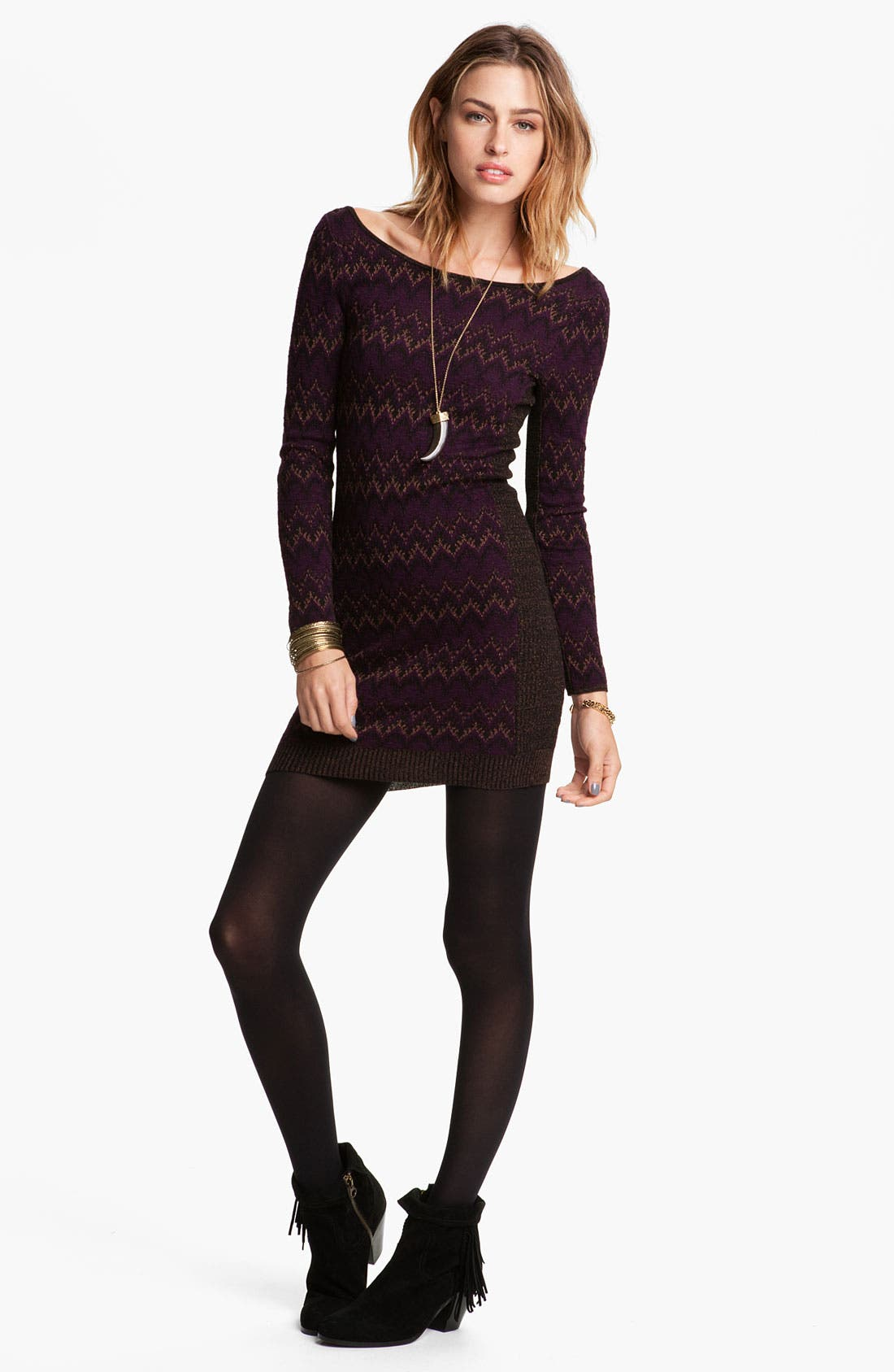 Alternate Image 1 Selected - Free People 'Cozy Cabin' Sweater Dress