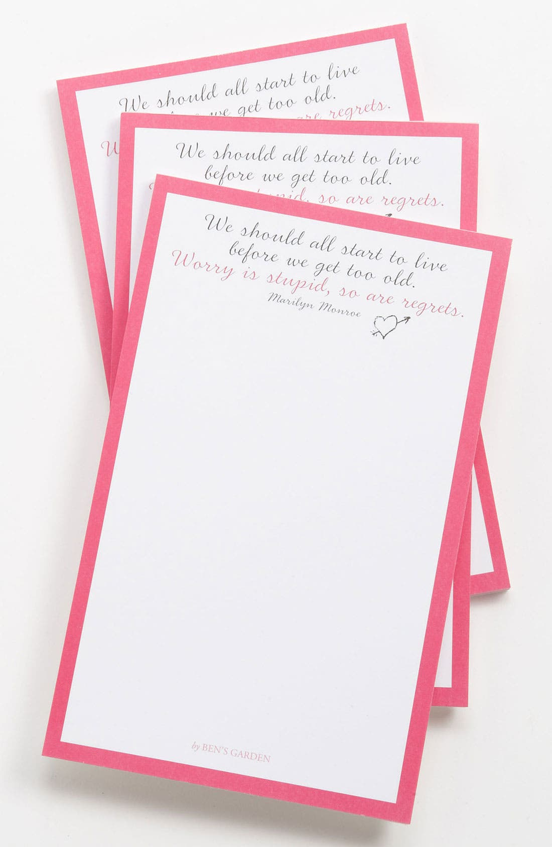 Alternate Image 1 Selected - Ben's Garden 'We All Should Start to Live' Notepads (3-Pack)