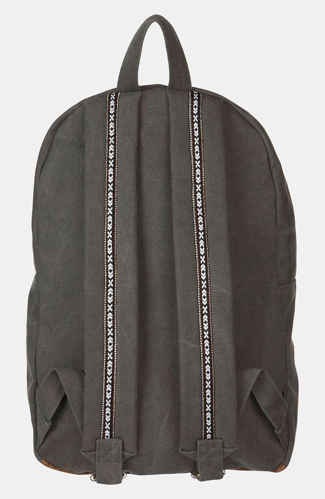 Alternate Image 2  - Topman Washed Canvas Backpack