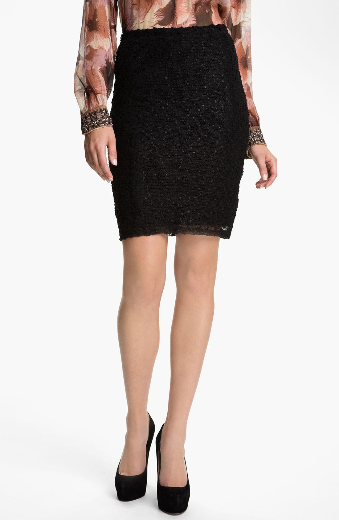 Main Image - Sanctuary Bouclé Knit Pencil Skirt